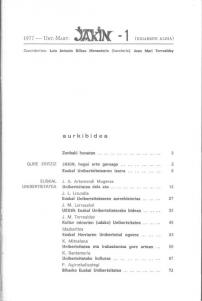 Jakin 1.  1977