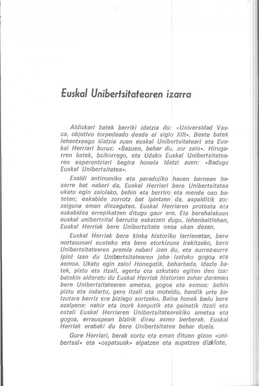 Euskal Unibertsitatearen izarra