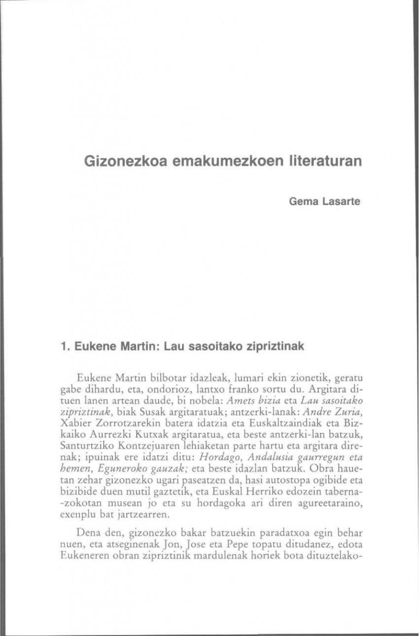 Gizonezkoa emakumezkoen literaturan