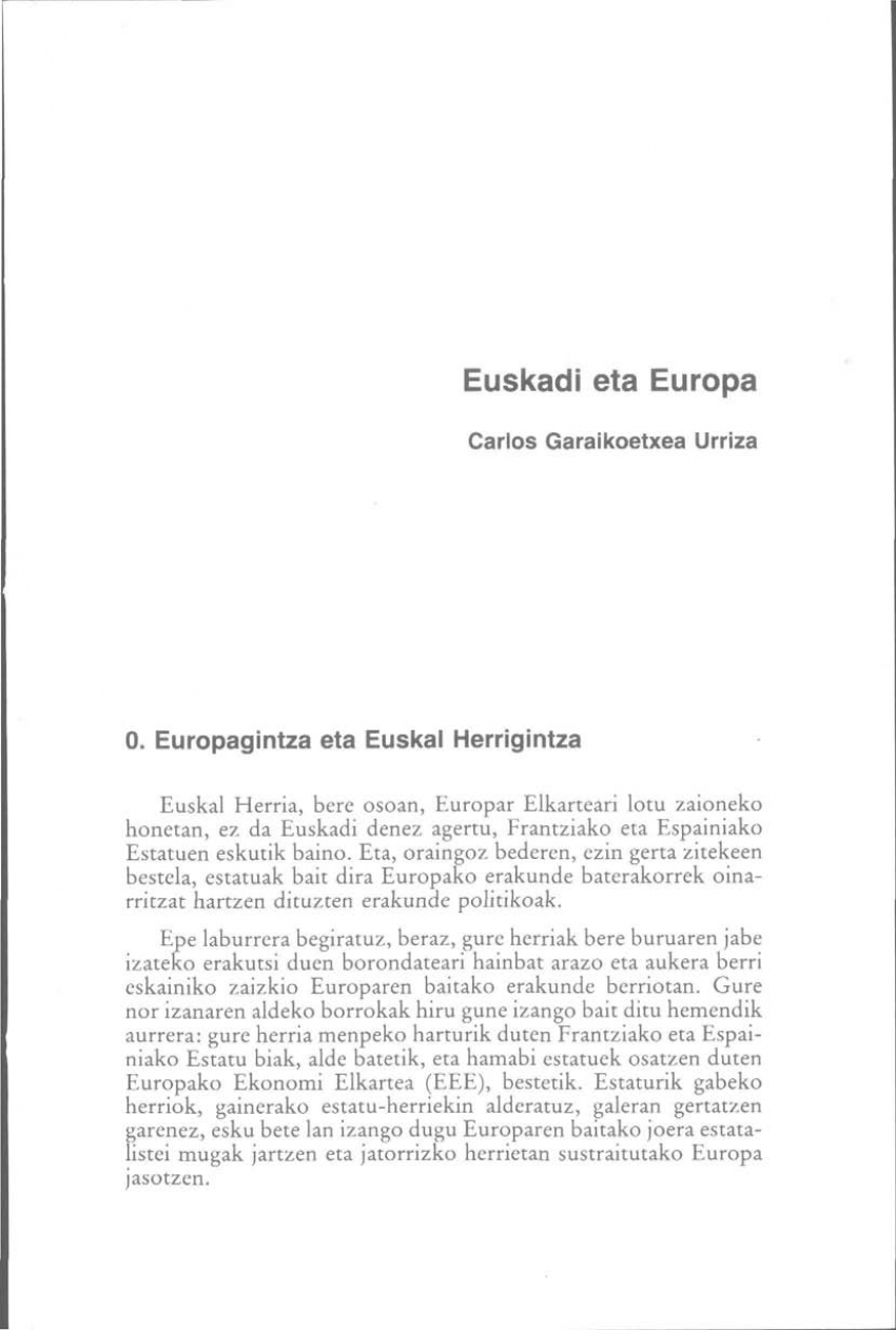 Euskadi eta Europa