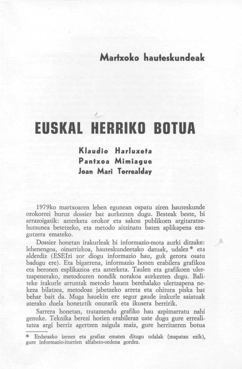 Euskal Herriko botua. Martxoko hauteskundeak