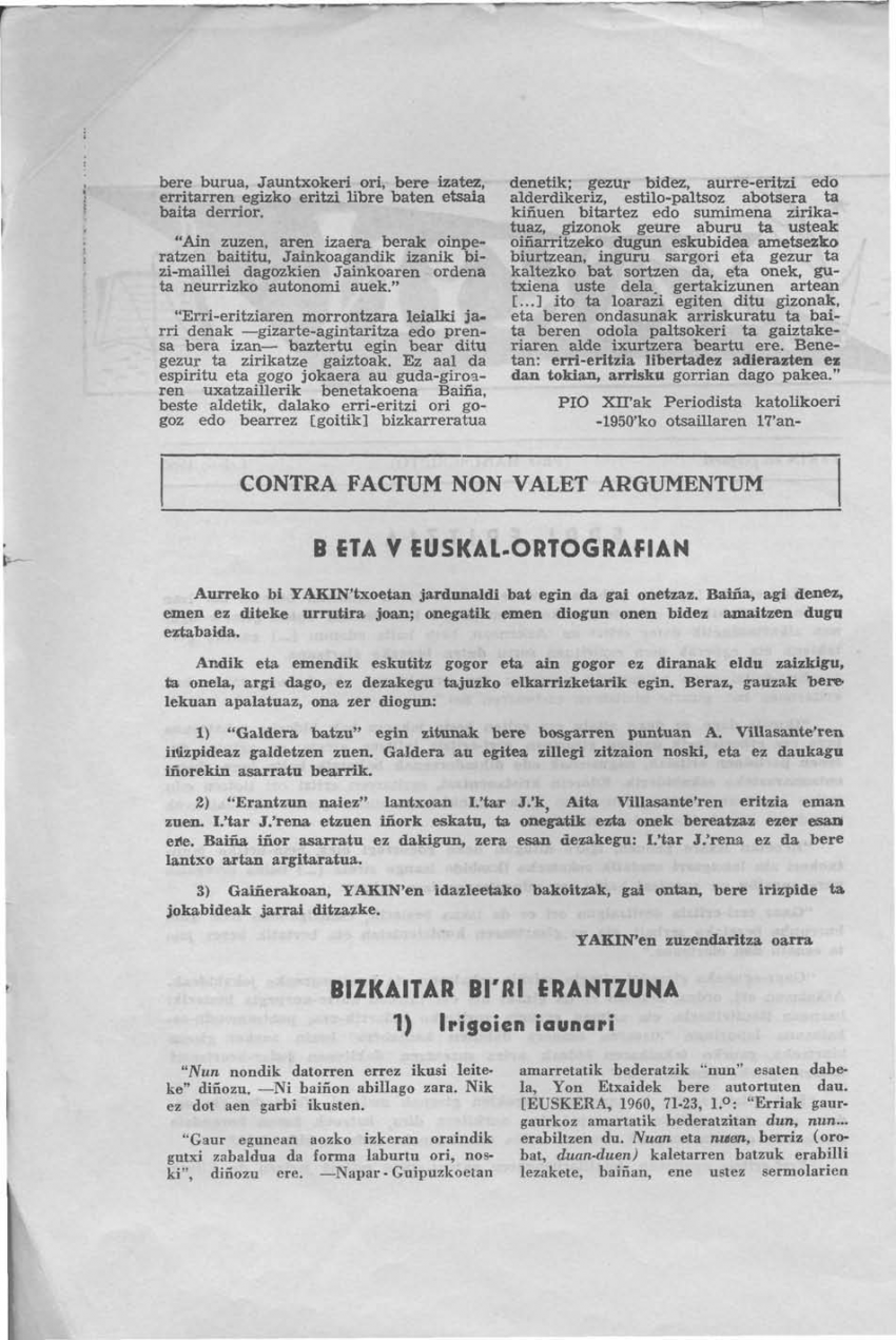 B eta V euskal-ortografian
