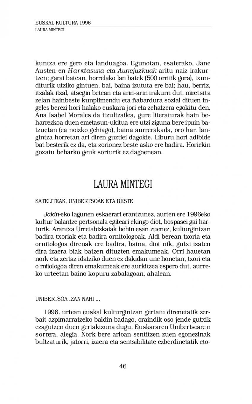 Euskal kultura 1996