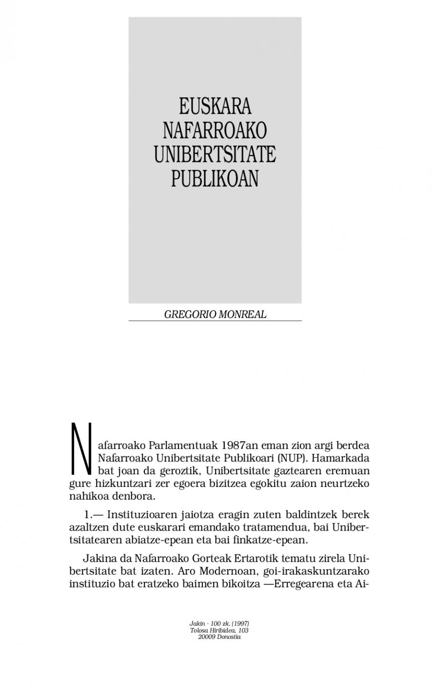Euskara Nafarroako Unibertsitate Publikoan