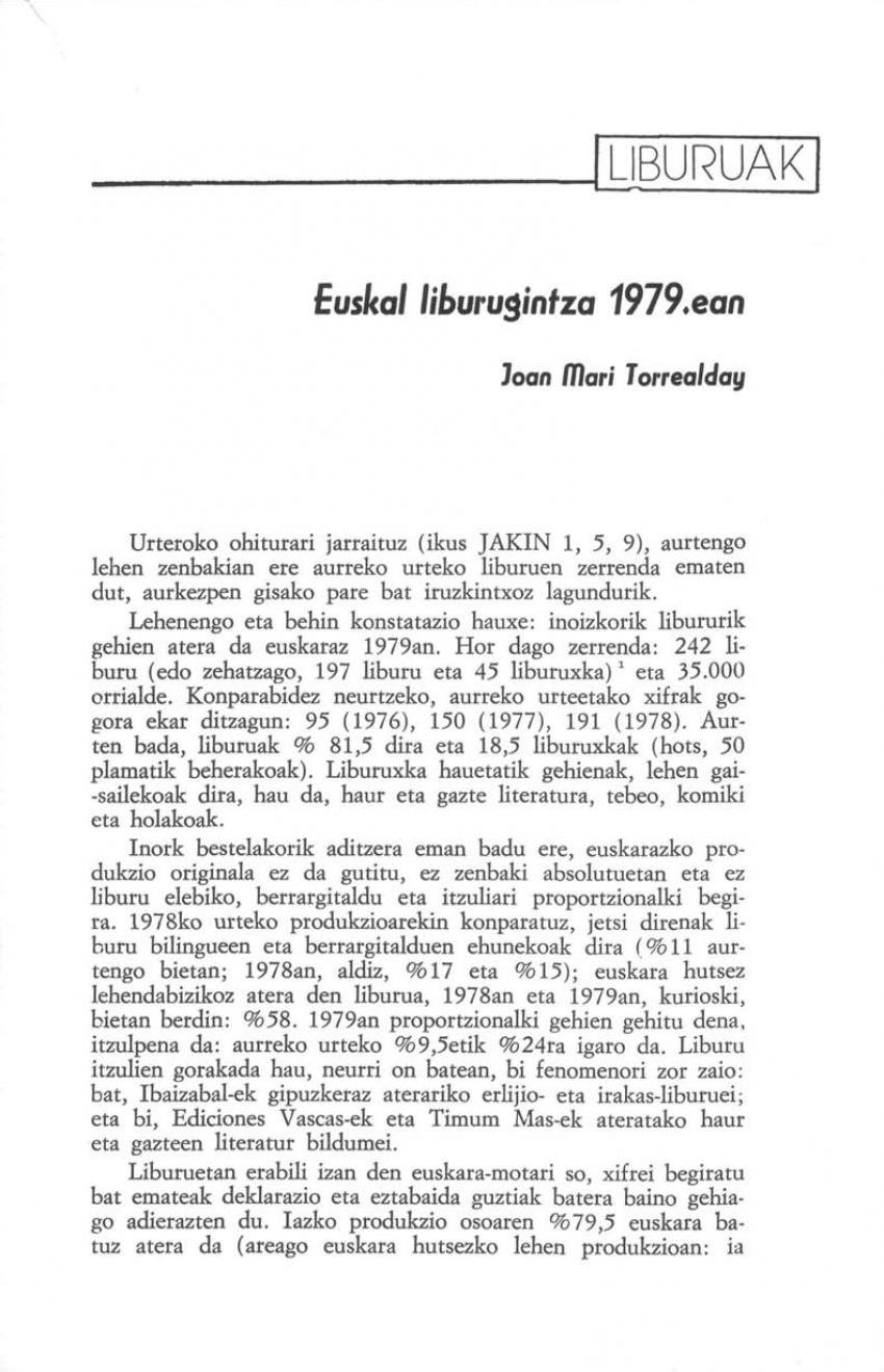 Euskal liburugintza 1979.ean