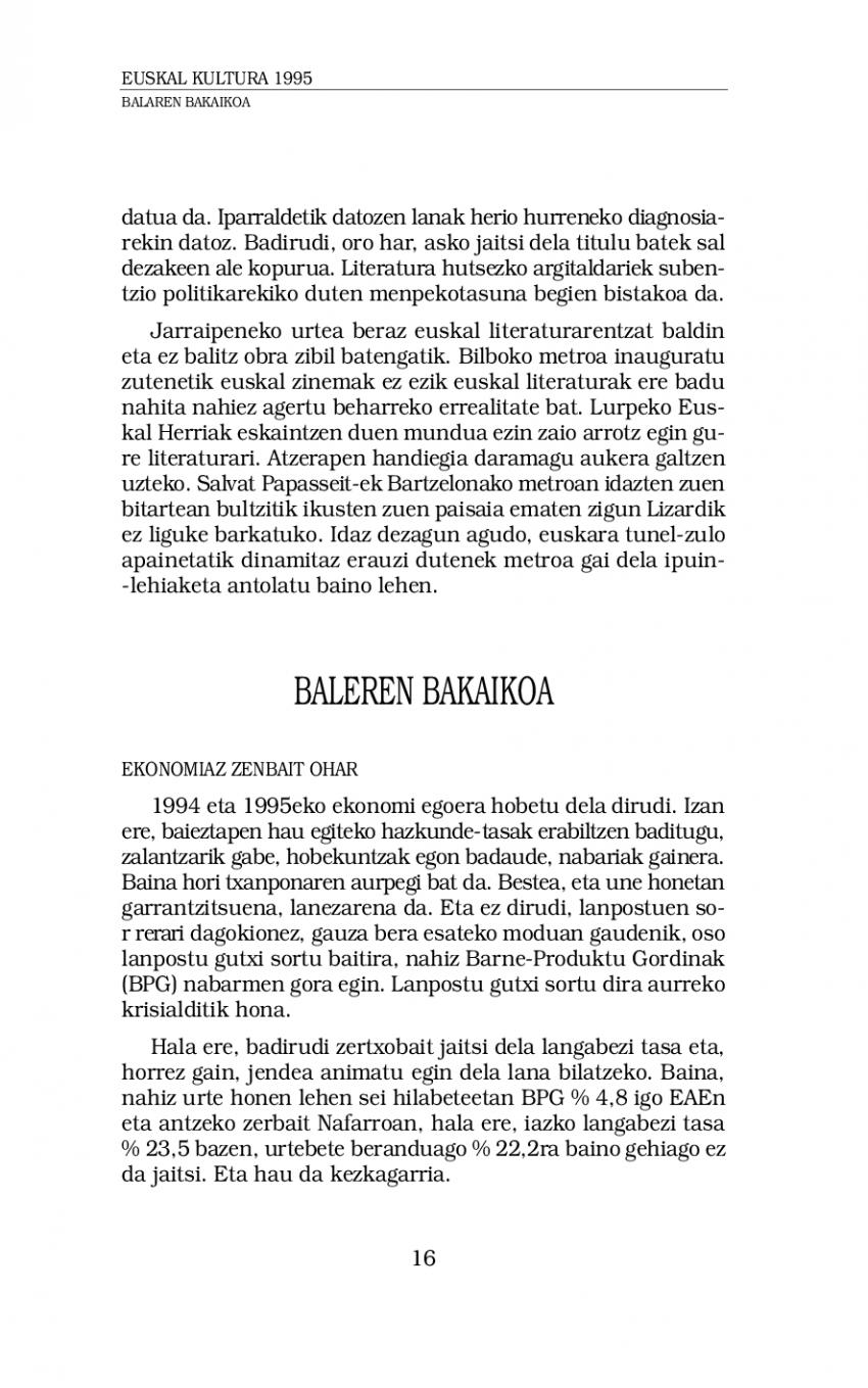 Euskal kultura 1995