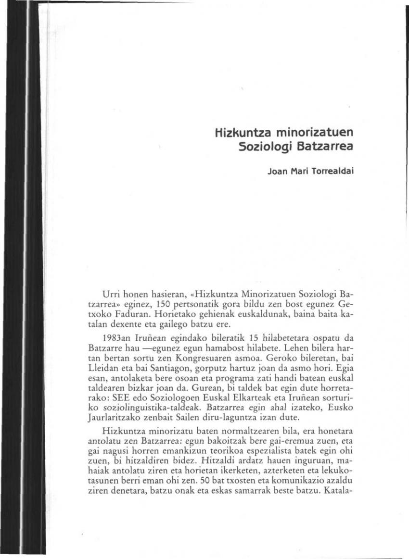 Hizkuntza minorizatuen Soziologi Batzarrea