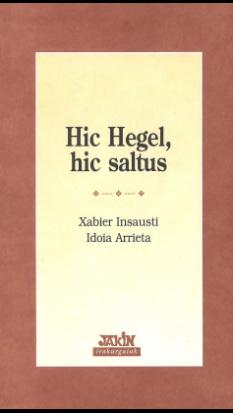 Hic Hegel, hic saltus