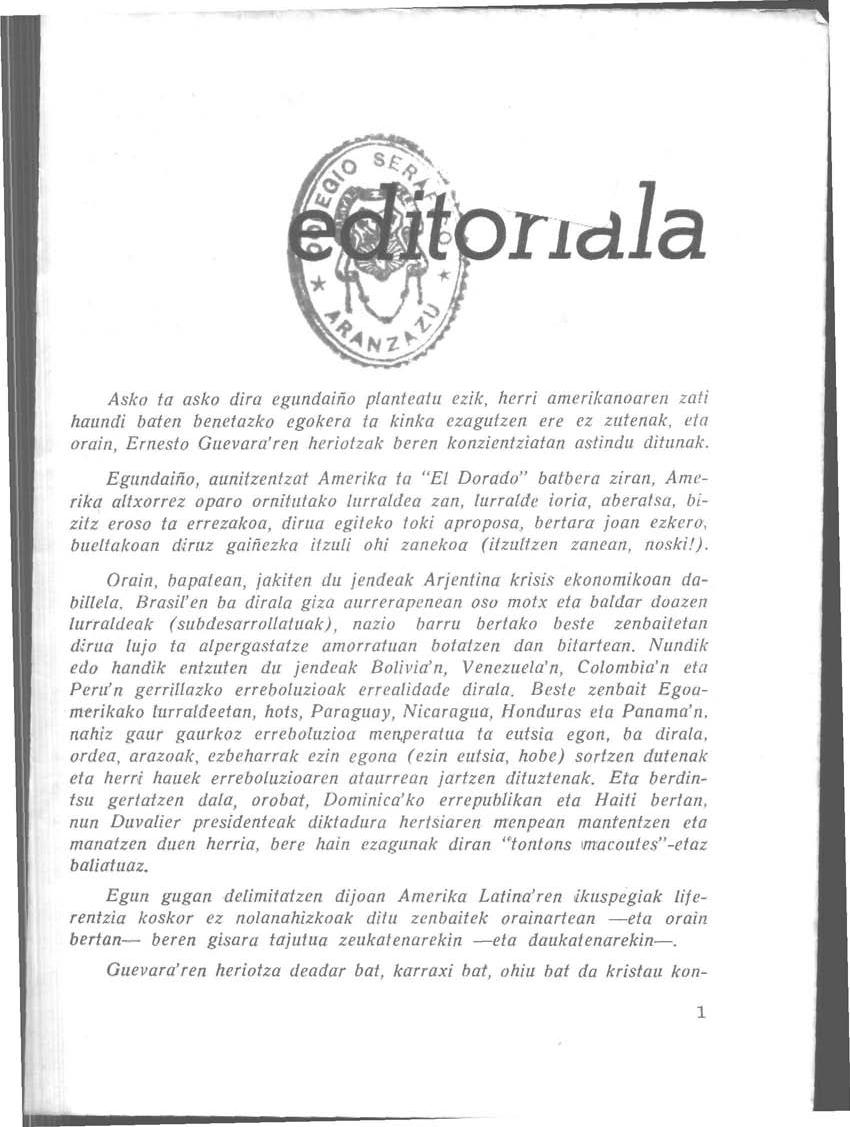 Editoriala