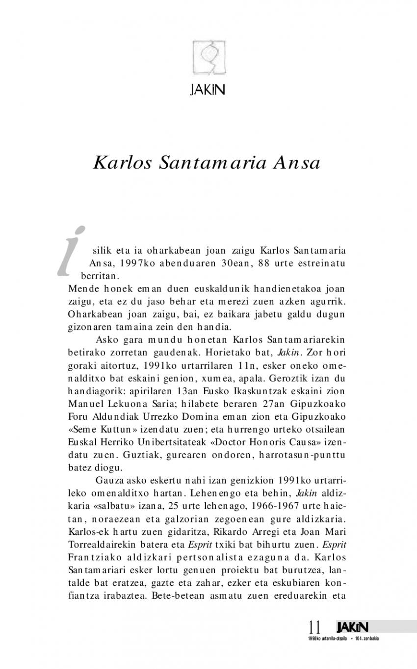 Karlos Santamaria Ansa