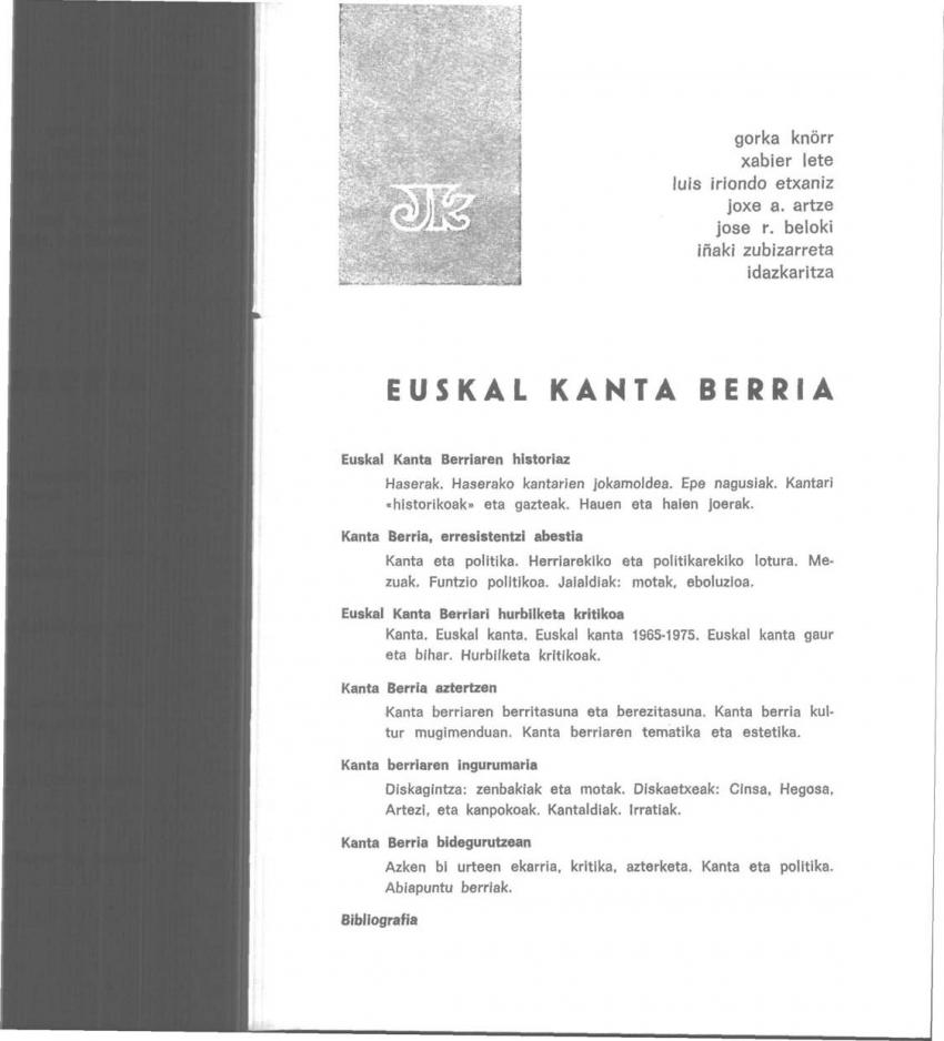 Euskal Kanta Berria