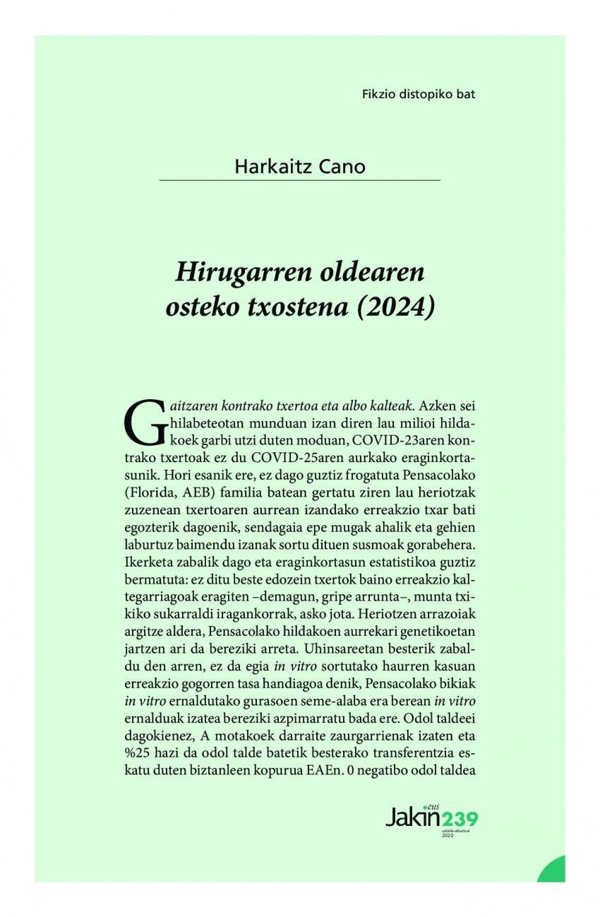 Hirugarren oldearen osteko txostena (2024)