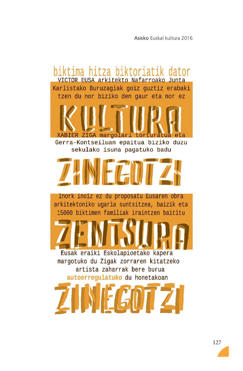 Euskal kultura 2016