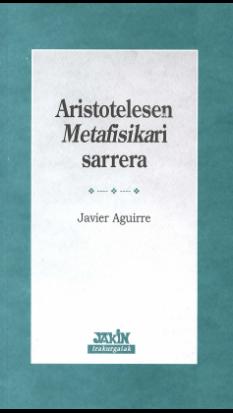 Aristotelesen <i>Metafisika</i>ri sarrera