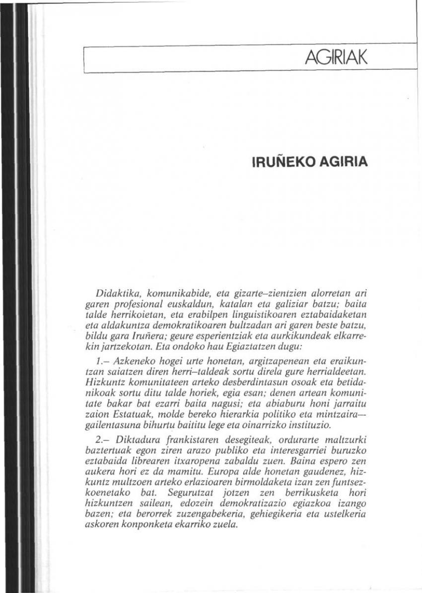 Iruñeko agiria