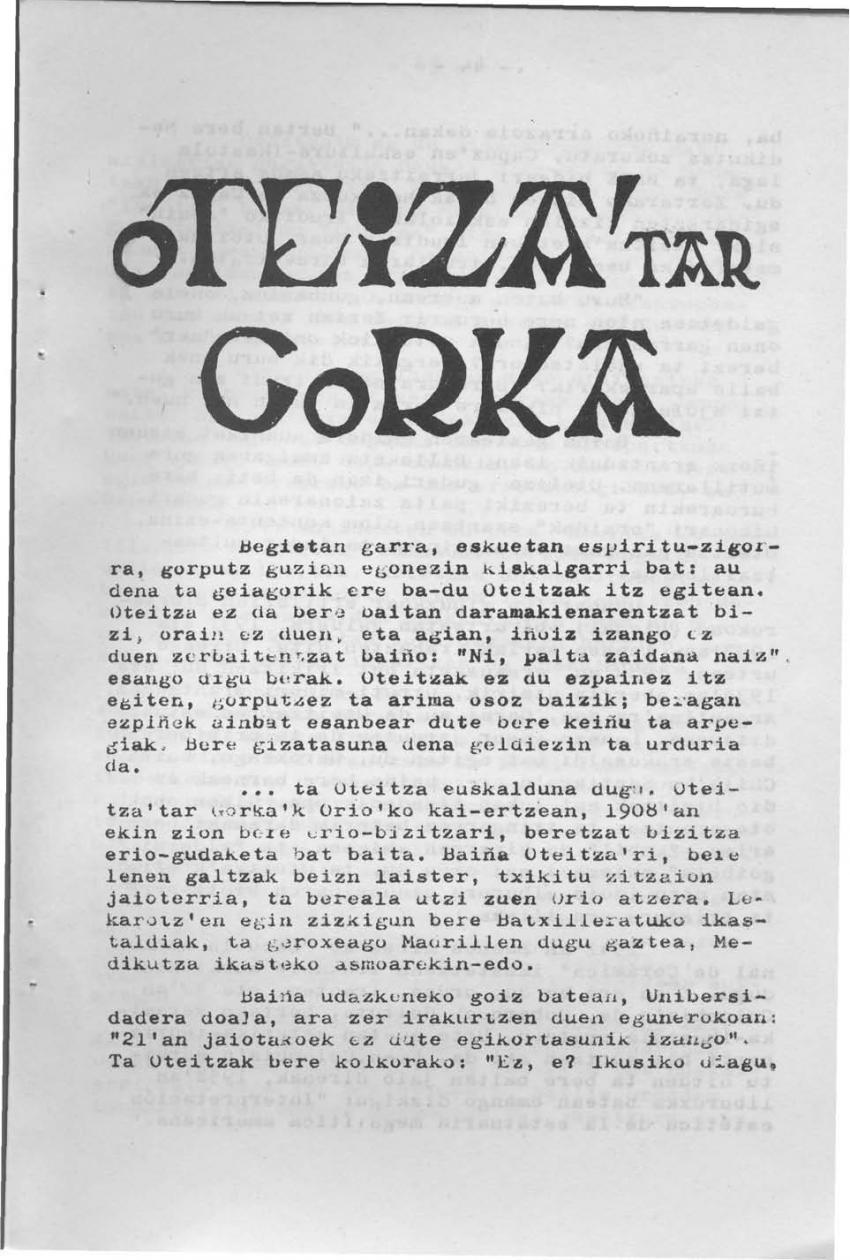 Oteiza'tar Gorka