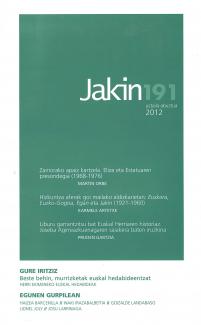 Jakin 191.  2012