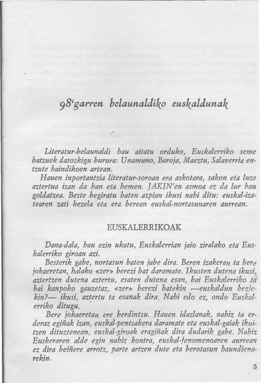98'garren belaunaldiko euskaldunak