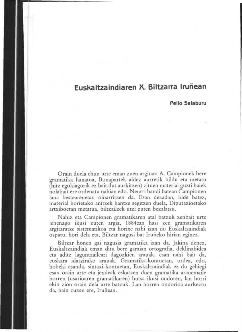 Euskaltzaindiaren X. Biltzarra Iruñean