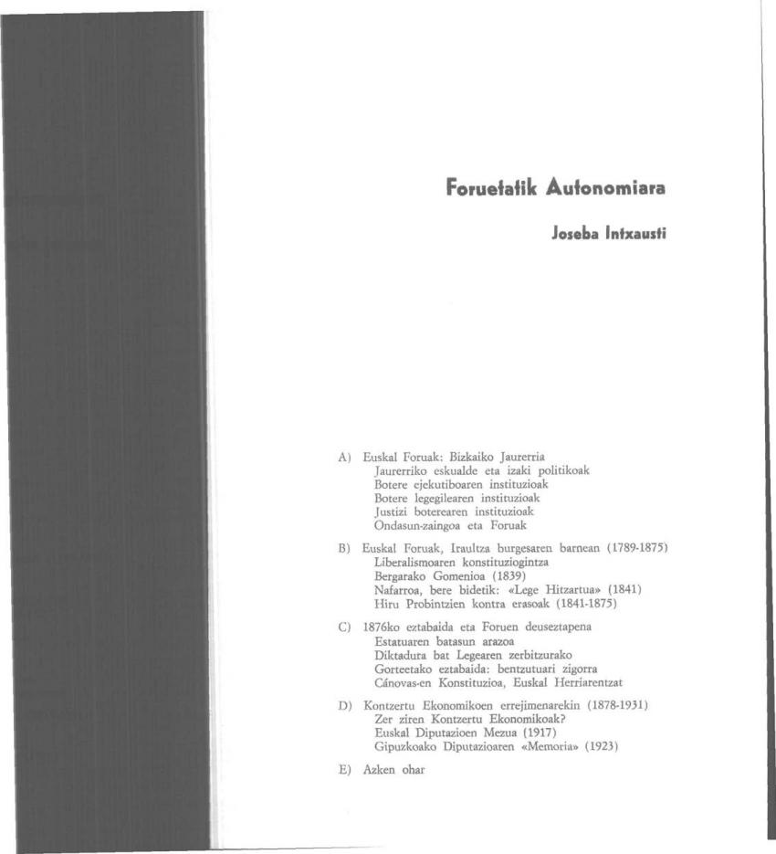 Foruetatik Autonomiara