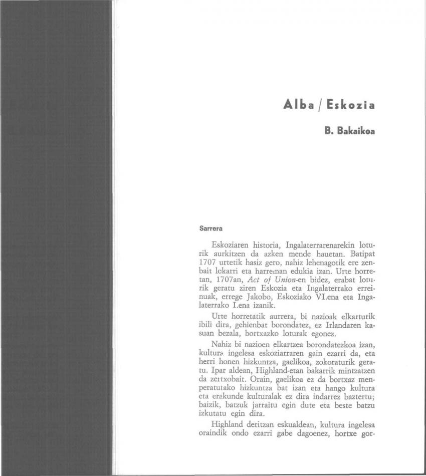 Alba/Eskozia
