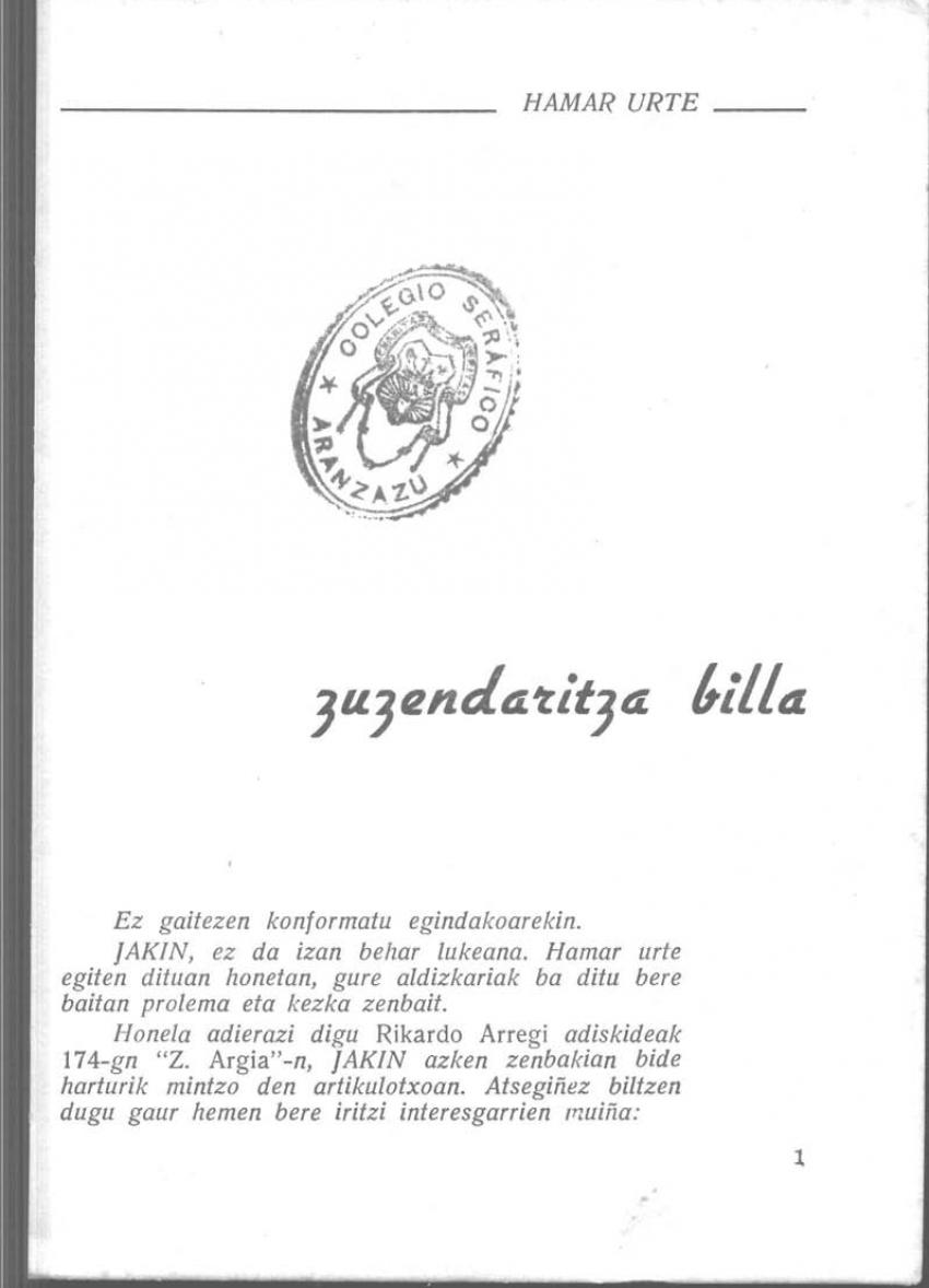 Zuzendaritza billa