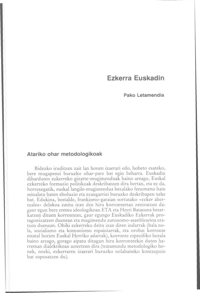 Ezkerra Euskadin