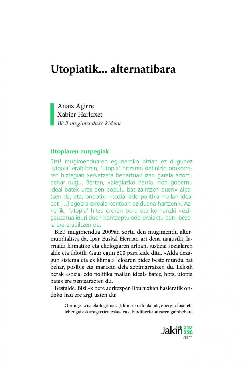Utopiatik... alternatibara