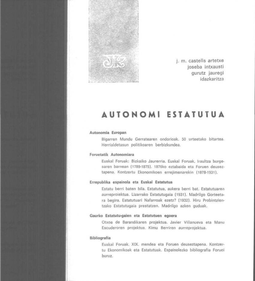 Autonomi Estatutua