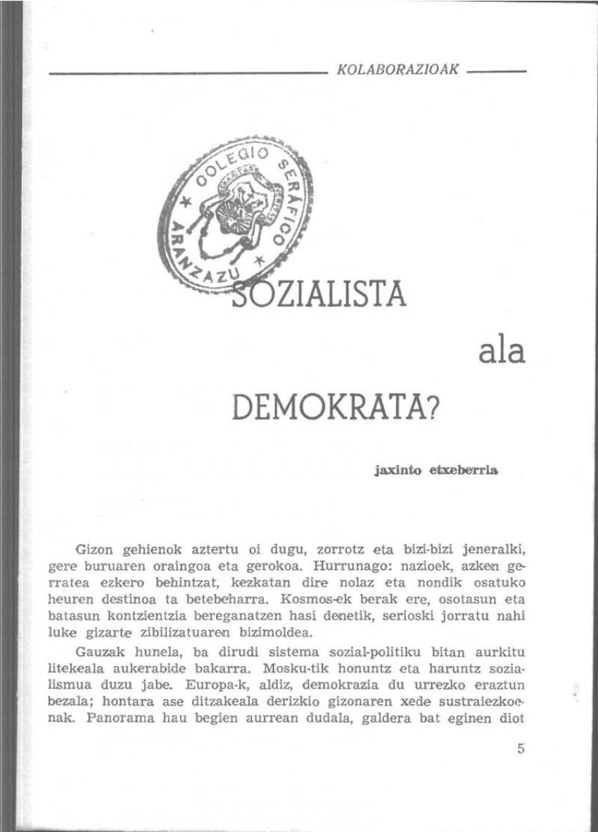 Sozialista ala demokrata?