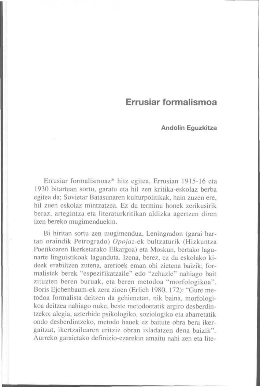 Errusiar formalismoa