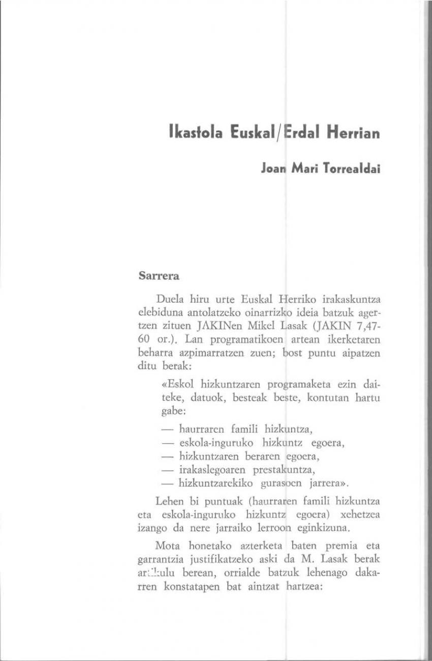 Ikastola Euskal/Erdal Herrian