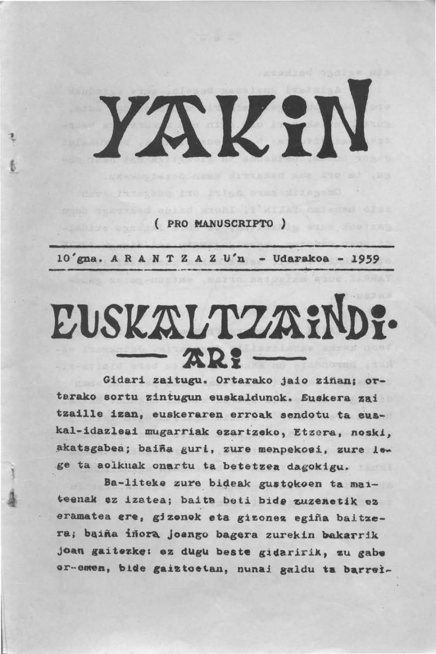 Euskaltzaindiari