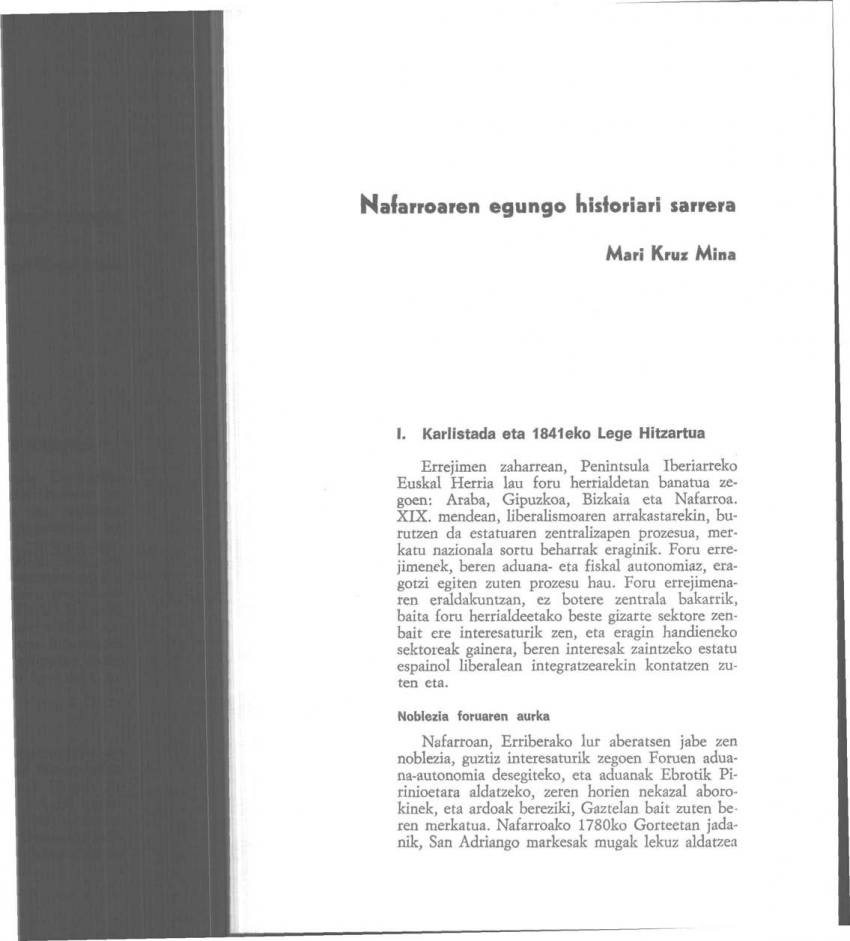 Nafarroaren egungo historiari sarrera
