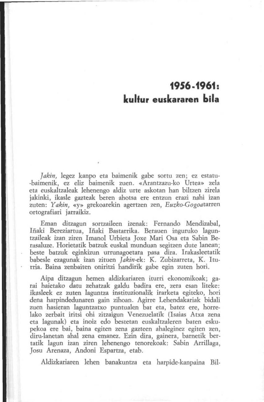 1956-1961: kultur euskararen bila